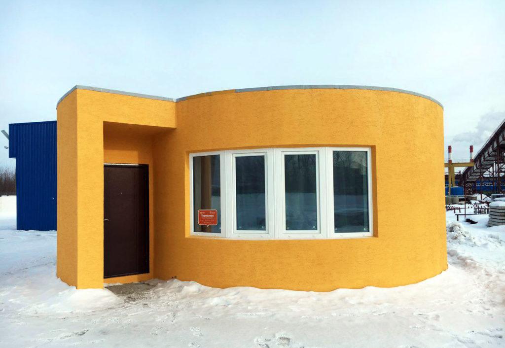 Первый в РФ дом напечатанный на 3Д принтере