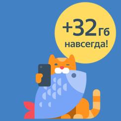 32ГБ навсегда для Яндекс.Диск