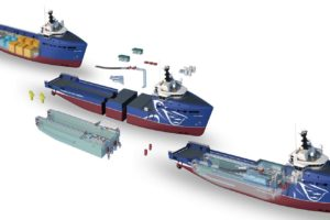 Вариант модификации судна обеспечения (СО) в судно перевозки живой рыбы от Damen
