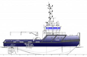 Внешний вид ASD буксира для работы в канале CaTRo и порту Прорва / (с) Судоверфь De Hoop