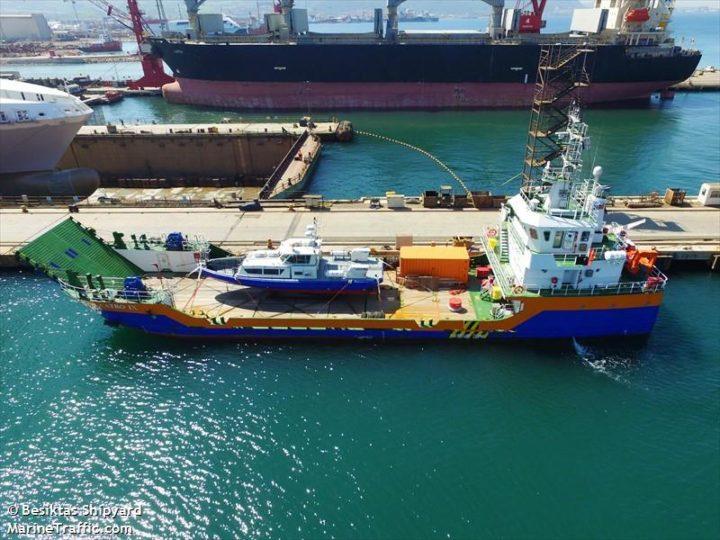 Landing craft CATRO IX / IMO 9784441 / Flag Kazakhstan / MarineTraffic.com