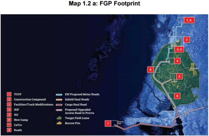 Схема проекта TCO FGP / http://www.tengizchevroil.com