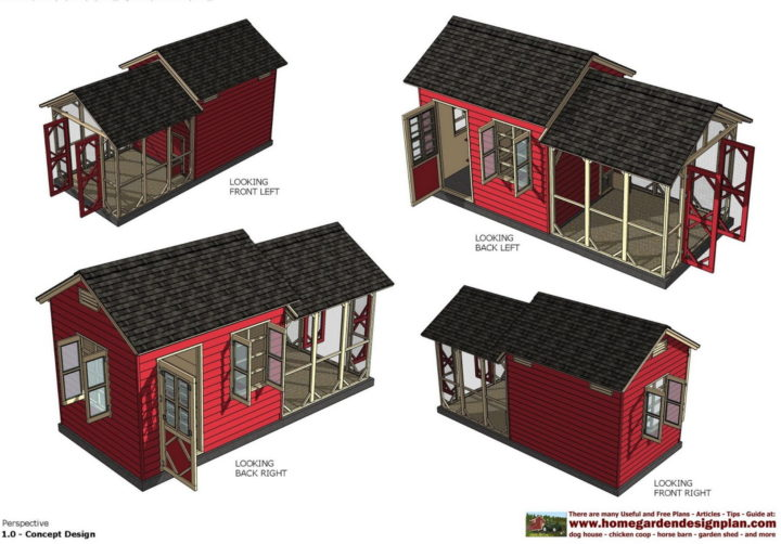 Садовый сарай и курятник (с) http://www.homegardendesignplan.com