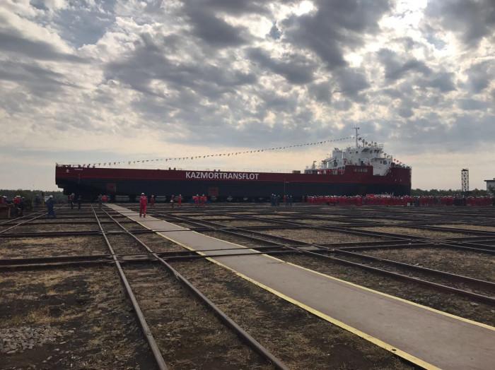 FTMCV SUNKAR на стапелях судоверфи Браила, Румыния. Октябрь 2017 г.