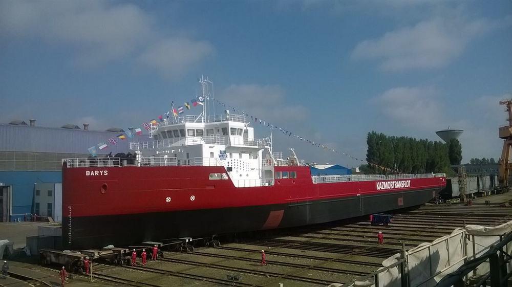 Многоцелевое судно Барыс. Браила, Румыния. 2017.