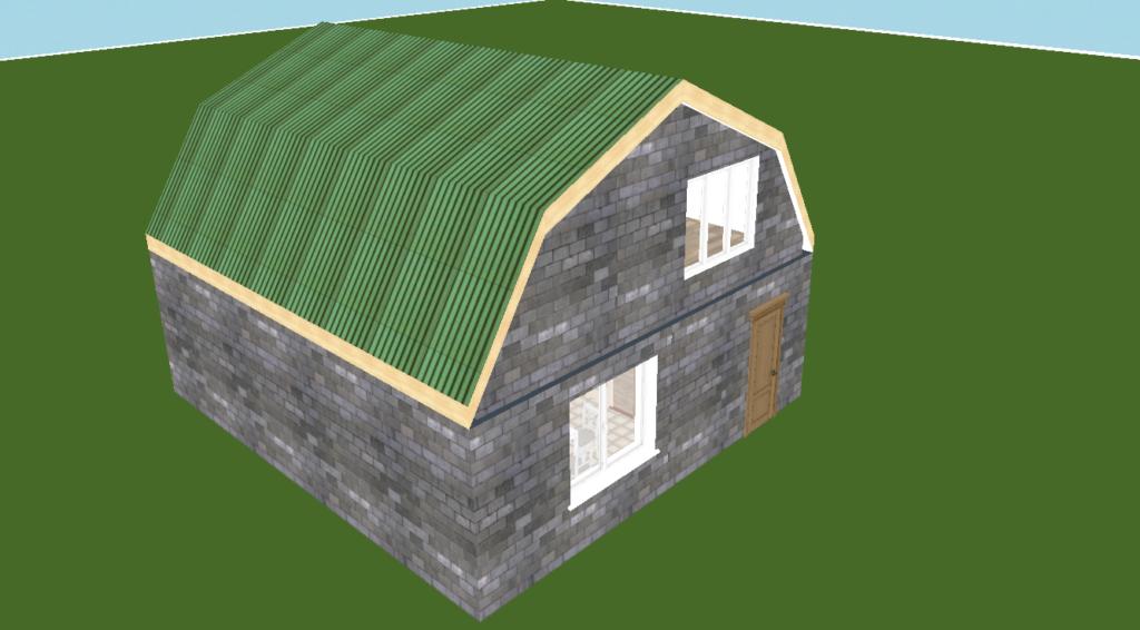 """Внешний вид / фасады дома в стиле """"я сделаю сам""""."""