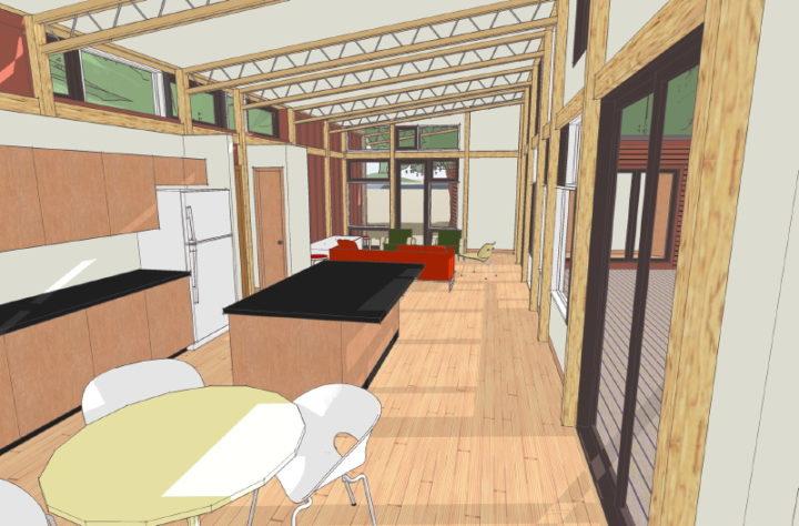 Часть кухни и гостинная (с) lamidesign.com
