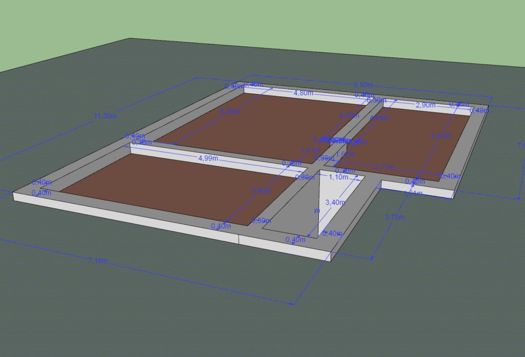Проект фундамента, выполненный Громозека (Форумхаус), 2014. Гарантий никаких.