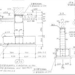 Фрагмент проекта фундамента / армирование от местных проектантов, знакомых с особенностями местных грунтов.