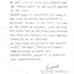 Записка филиппинского боцмана о капитане (с) Интернет