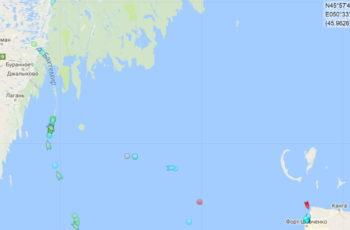Северная часть Каспийского моря (СЧКМ) / (c) Marinetraffic.com