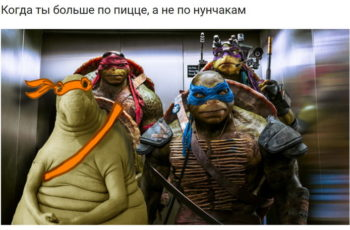 "Плохой продавец франшизы: ""Когда ты больше по пицце, а не по нунчакам"" / (с) IslandMonster https://pikabu.ru/story/kogda_tyi_bolshe_po_pitstse_a_ne_po_nunchakam_4796532"