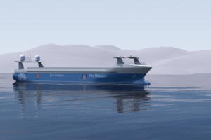 Автономное судно Yara Birkeland / (c) www.km.kongsberg.com/