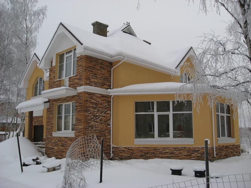Готовый мокрый фасад Ceresit, внешний вид.
