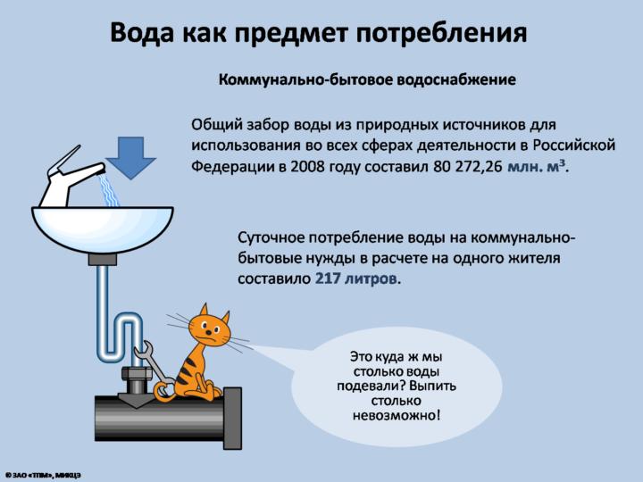 Вода как предмет потребления (Коммунально-бытовое водоснабжение)