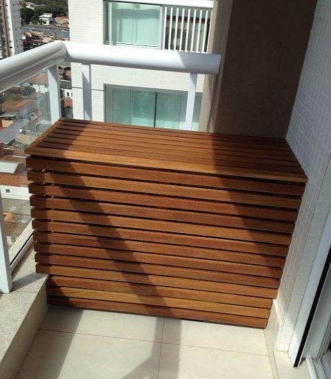 Вариант декорирования внешнего блока кондиционера на балконе