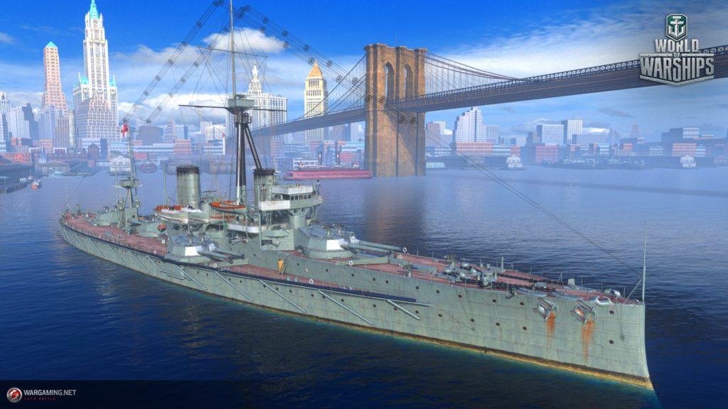Британский премиумный линкор III уровня Dreadnought доступный для новых игроков по инвайт коду от Ростелеком.