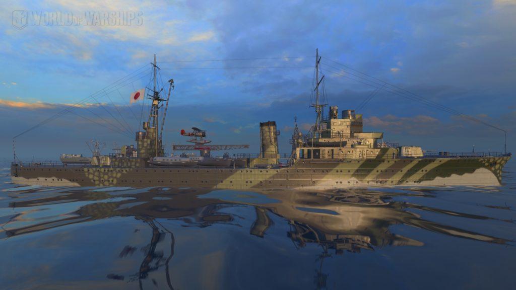 Японский премиум крейсер Katori, 3 уровень с камуфляжем по инвайт коду от Ростелеком.