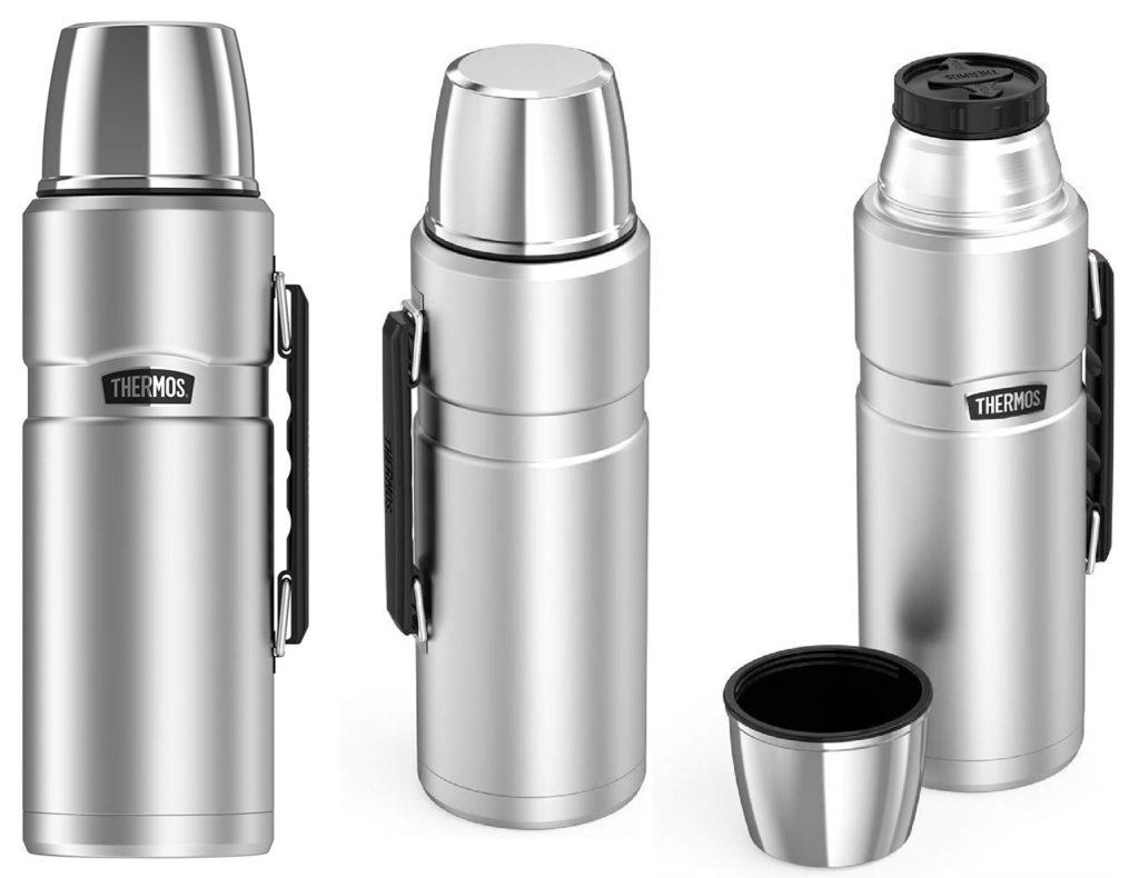 Внешний вид термоса Thermos Stainless King, емкостью 2 литра или 68 oz в варианте нержавеющая сталь (Stainless steel).