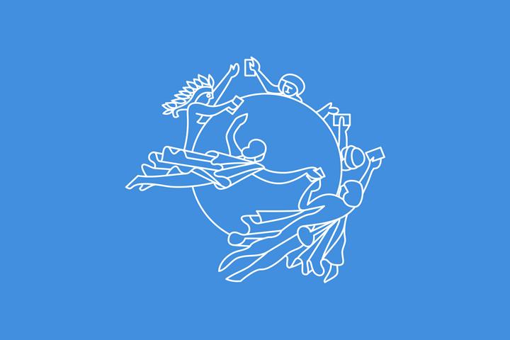 Флаг Всемирного почтового союза (ВПС) / Universal Postal Union (UPU) flag