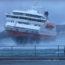 Швартовка судна к причалу в штормовую погоду